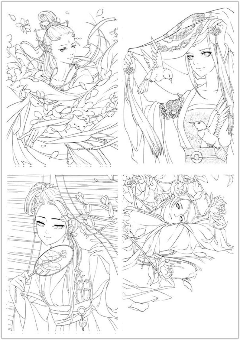 33++ Anime coloring book pdf free trends