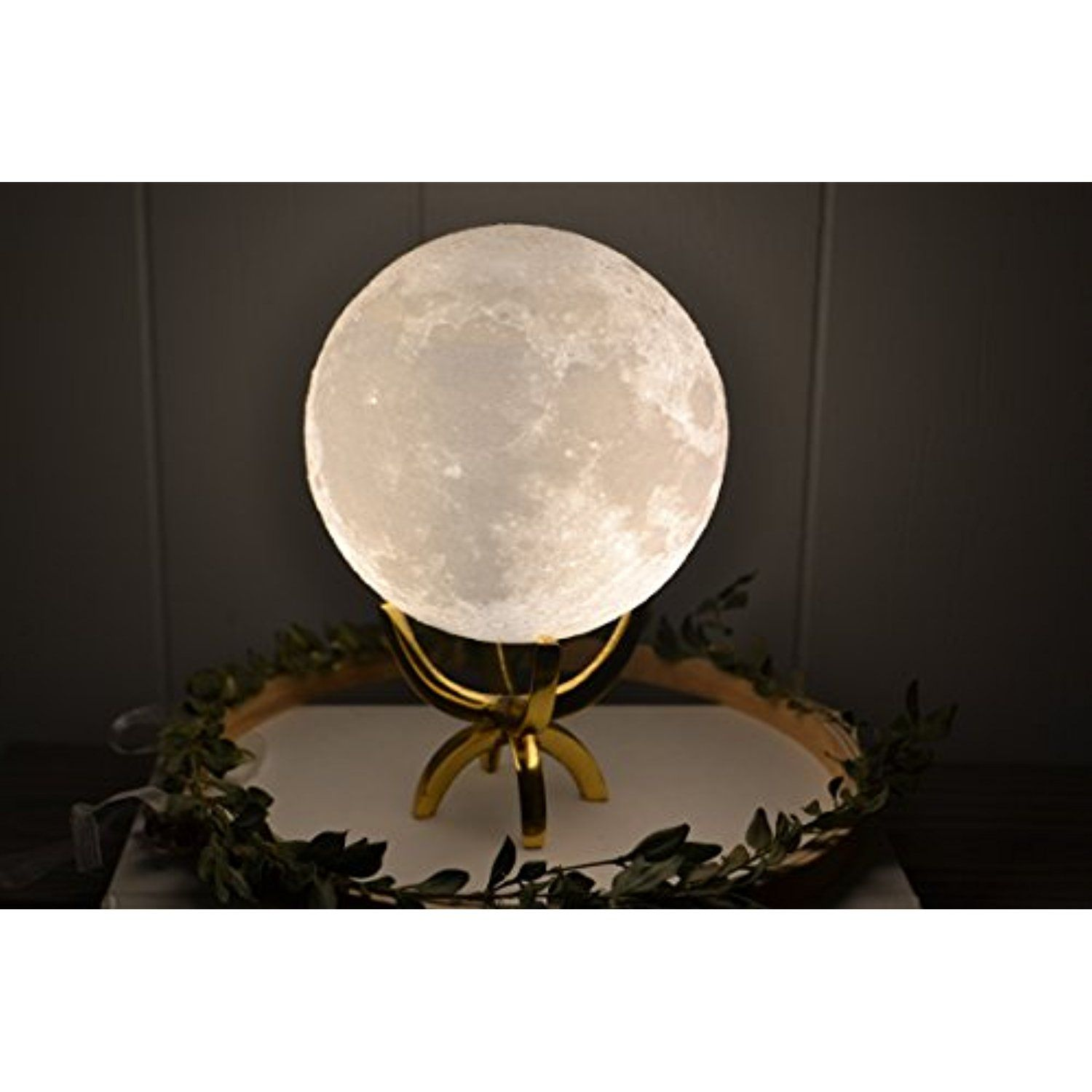 Led Moon Lamp 3d Printing Night Light Best Nursery Gift For Baby Shower Kids Girl Boy Or Mom Dimmable Touch Control Unique Baby Shower Gifts Decor Metal Decor