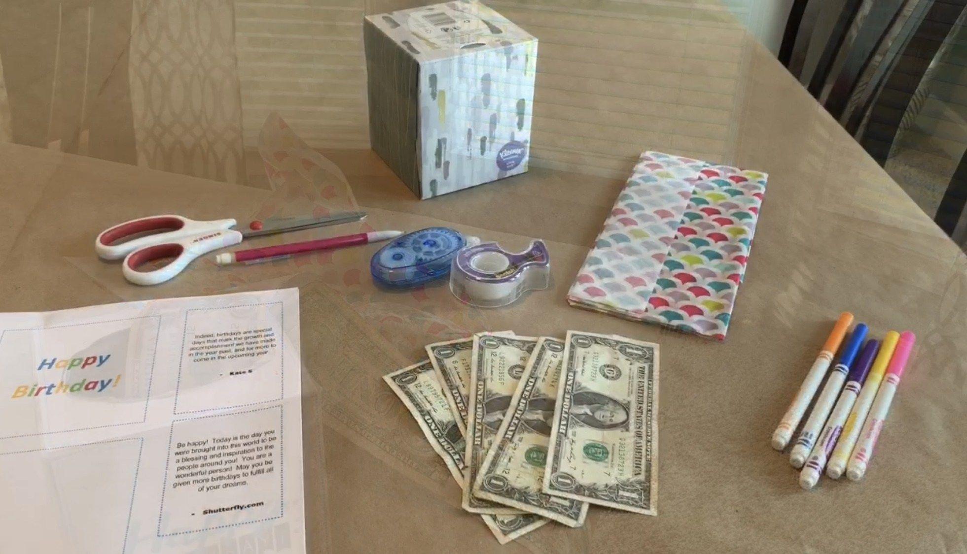 Birthday money box gift idea my inspiration corner