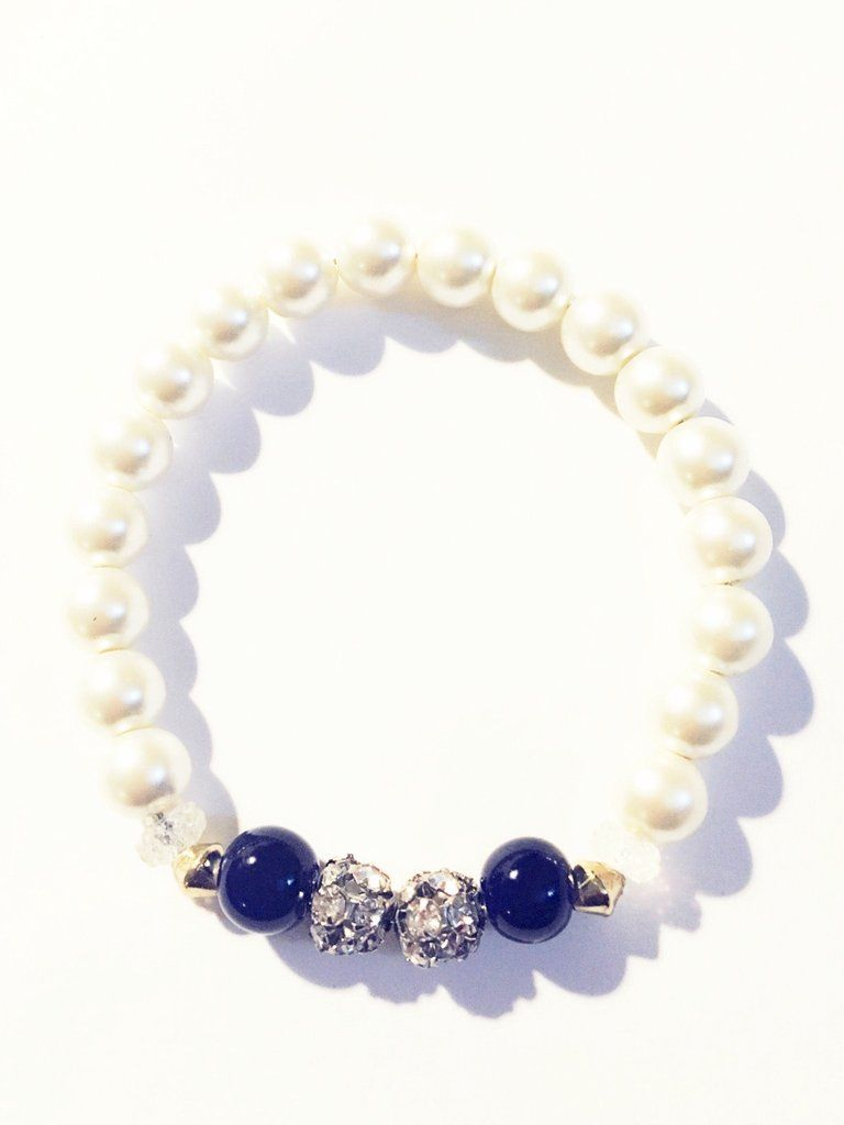 """Something Blue"" Bridal Bracelet"