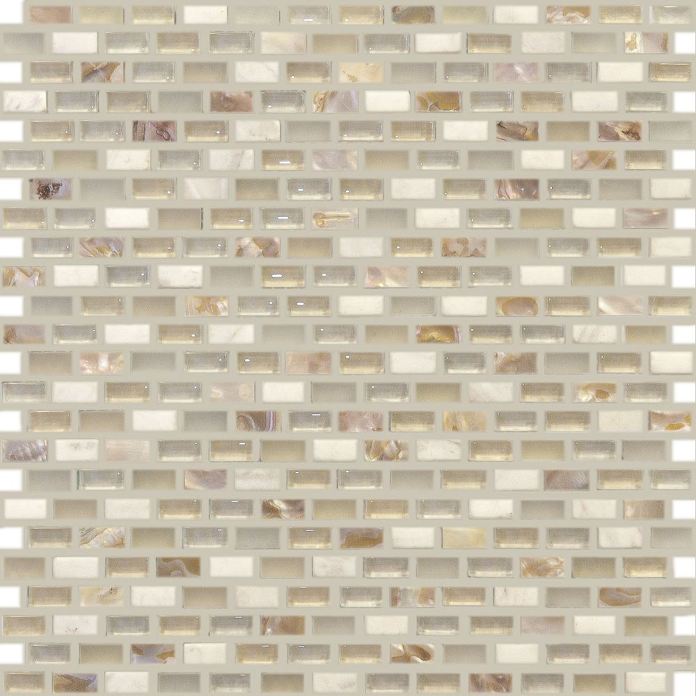 Pearl Beach Mini Brickset with cream colored natural stone, glass ...