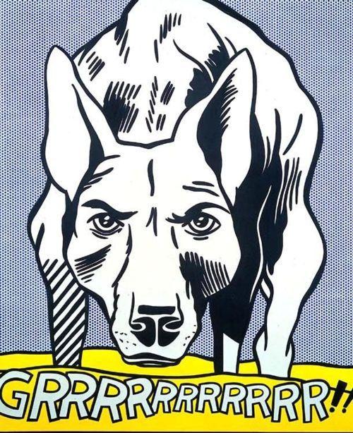 Roy Lichtenstein: Grrrrrrrrrrrrrrr!!, 1965.
