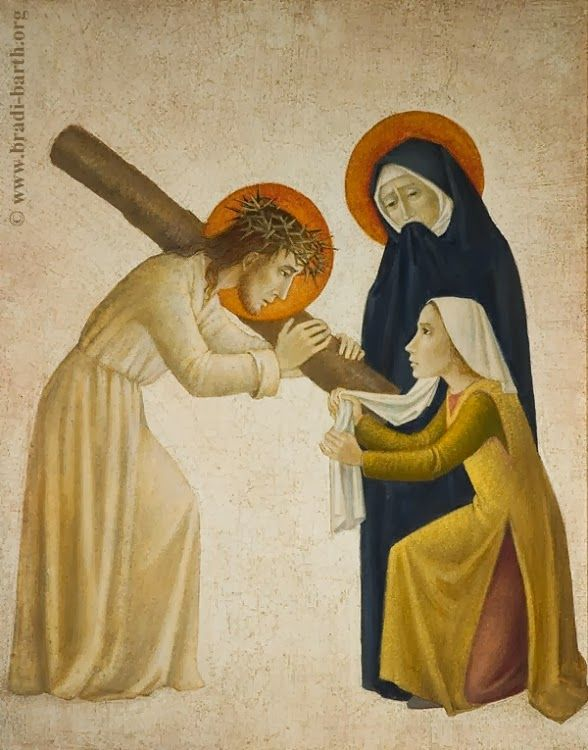 Veronica wipes the face of Jesus by Bradi Barth (With