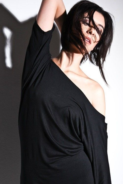 Womens Black Dress Clothing Off The Shoulder Signature by lamixx, $37.00