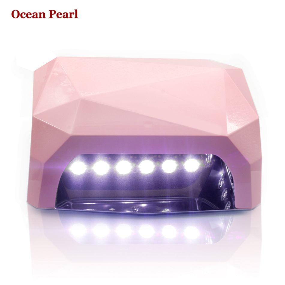 Ocean Pearl Sun6 36 Vt Uf Led Lampa Dlya Nogtej Uv Led Lampa Sushilka Dlya Nogtej Lampa V Forme Romba Instru Uv Nail Lamp Led Nail Lamp Uv Gel Nail Polish