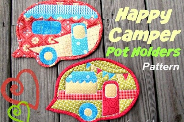Happy Camper Pot Holders Free Pattern | Quilts | Pinterest ...