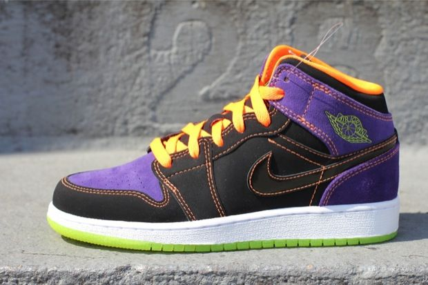 Air Jordan 1 Phat GS Black Purple Orange-Green  31b637322