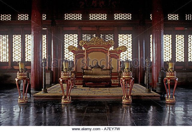 One Of The Throne Rooms Forbidden City Palace Museum Beijing