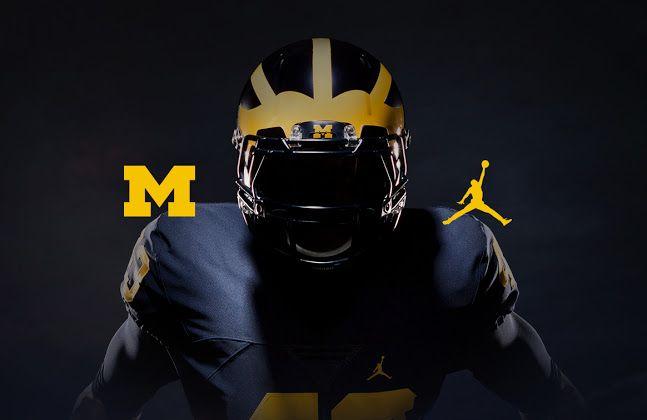 Here Are Michigan S Air Jordan Football Uniforms Michigan Football Michigan Wolverines Football College Football Uniforms