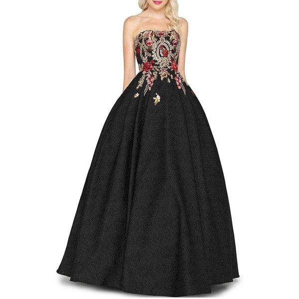 Mac Duggal Women\'s Floral Strapless Ball Gown ($449) ❤ liked on ...