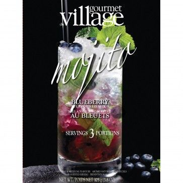 Gourmet Du Village Cool Drinks 'Mojito Blueberry' Drink Mix #blueberrymojito Enjoy a delicious blueberry mojito and beat the summer heat. This Gourmet Du Village Cool Drinks 'Blueberry Mojito' Drink Mix tastes delicious and you just have to add water. #blueberrymojito