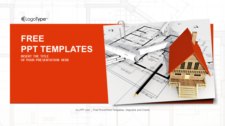 Free Real Estate Powerpoint Templates Design Building A House