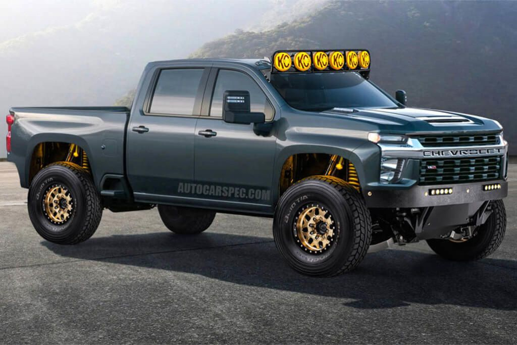 2020 Chevy Silverado Hd Prerunner Render By Autocarspec Lifted