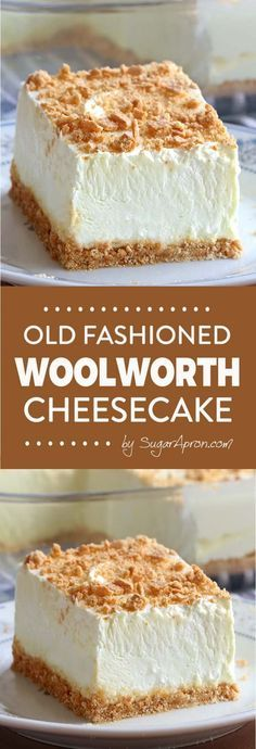 No Bake Classic Woolworth Cheesecake #cheesecakes