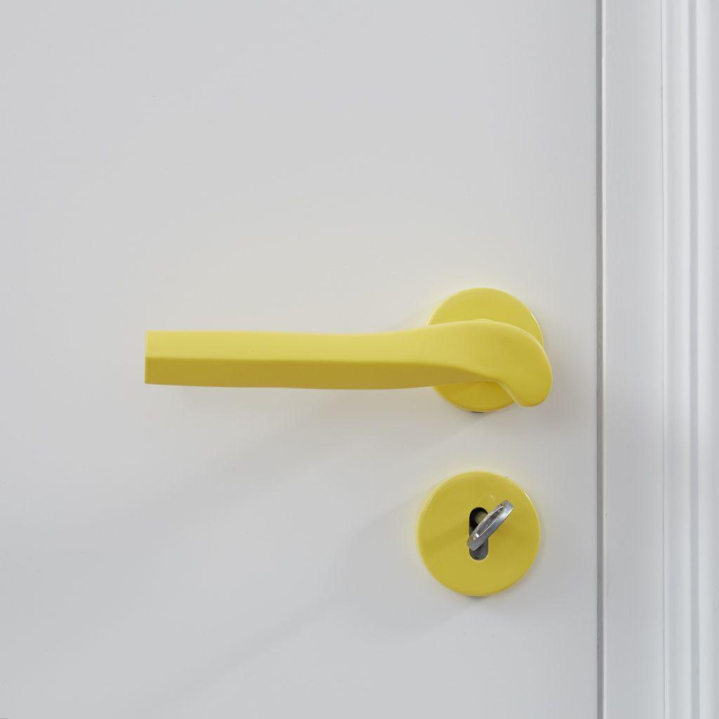 Colored Door Handle Prisma Yellow In 2020 Door Handles Handle Door Color