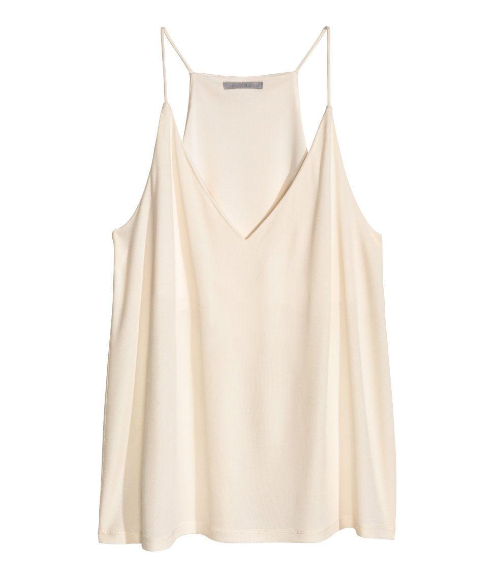 9968f6c8d1081 Flared, V-neck camisole top | H&M Modern Classics | H&M MODERN ...