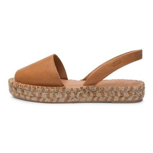 Ibizas Bicolor Platform Camel ($105) ❤ liked on Polyvore featuring shoes,  sandals,