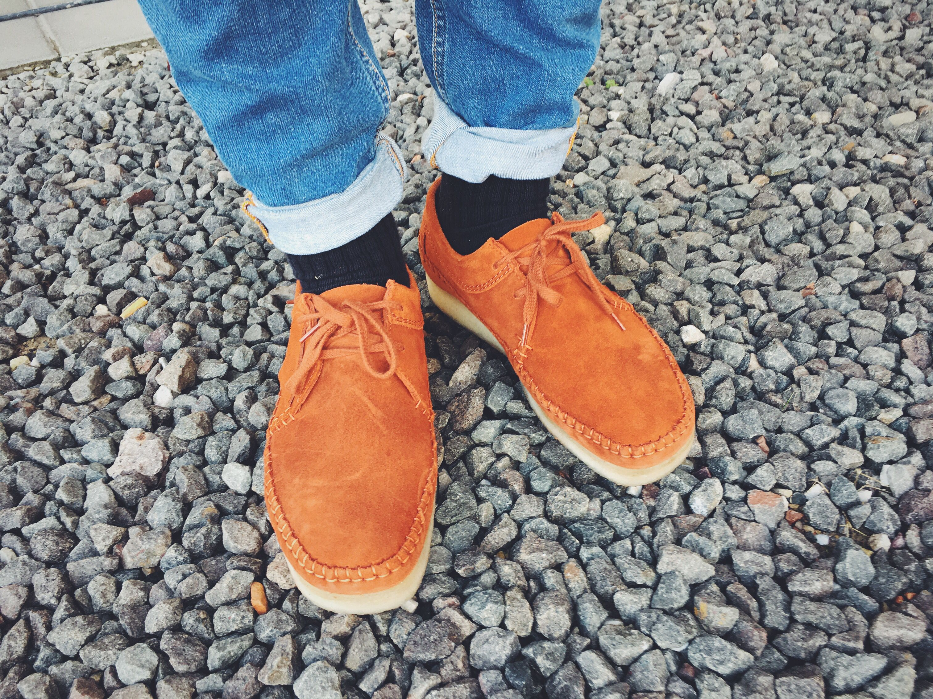 7136a0ad586 Clarks Wallabee Weaver Rust low on feet | Wallabees | Clarks ...