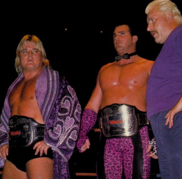 WWF World Tag Team Champions The Dream Team Greg Valentine And Brutus  Beefcake With Their Manager