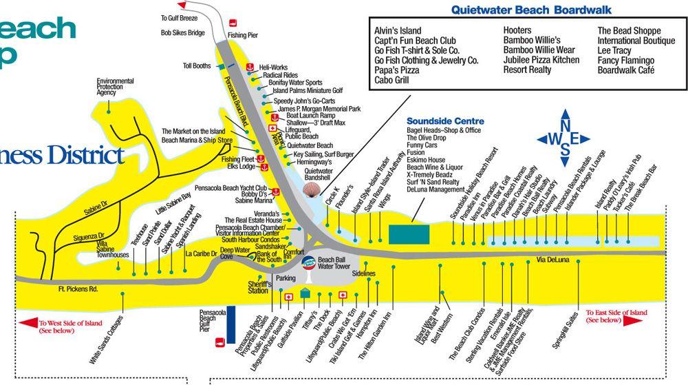 Quitewater Beach Boardwalk Map