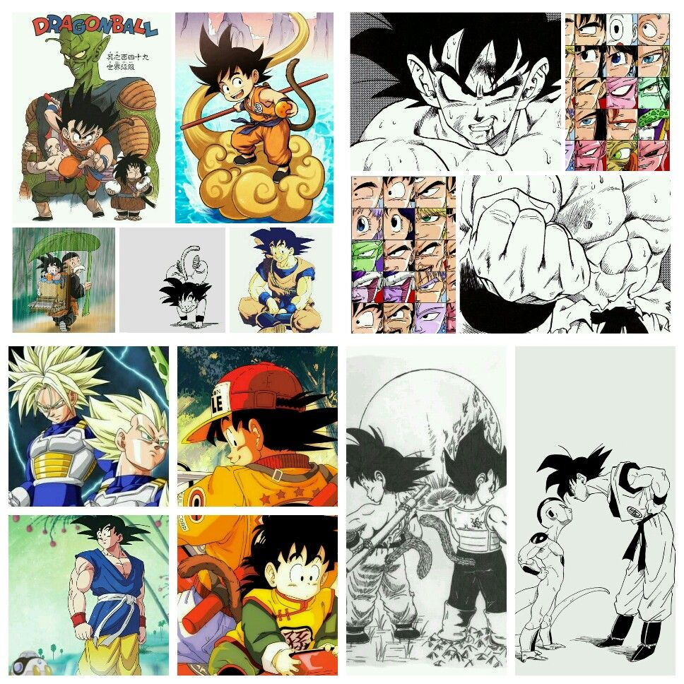 A collage I made of Dragonball and Dragonball Z! My