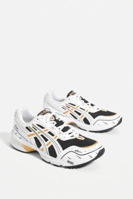 Asics GEL-1090 White \u0026 Gold Trainers in