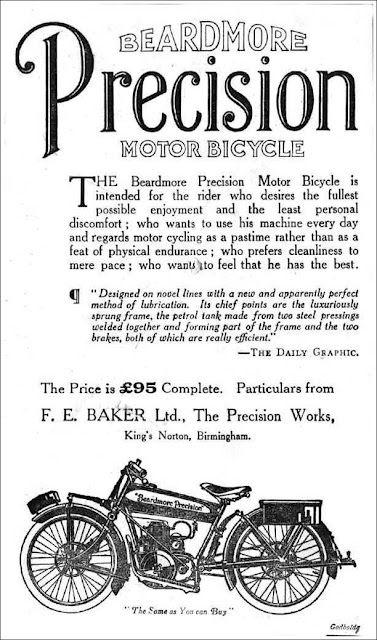 1925 Ad Beardmore Precision Motor Bicycle Motor Motorcycle