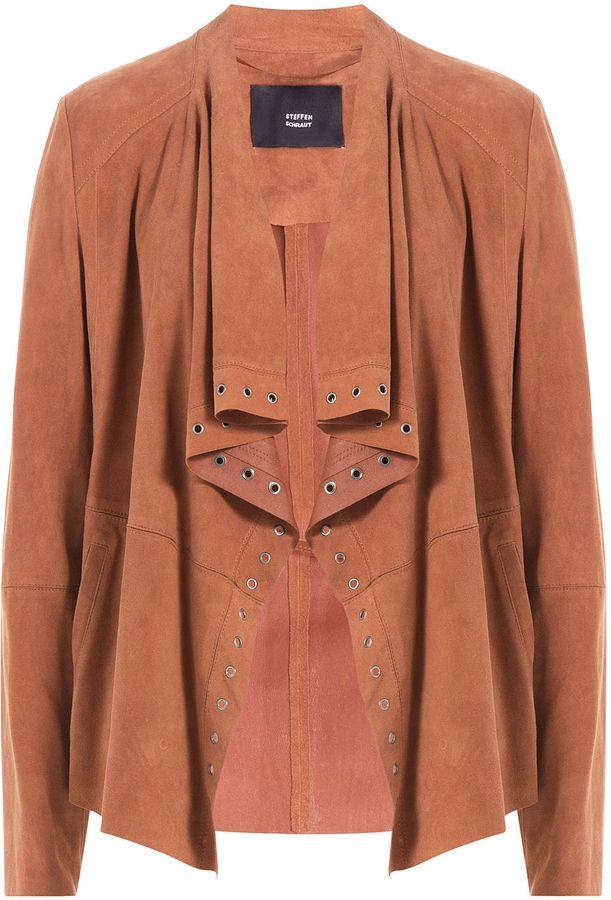 black listing draped suede jacket drapes coats poshmark tobi m zac jackets