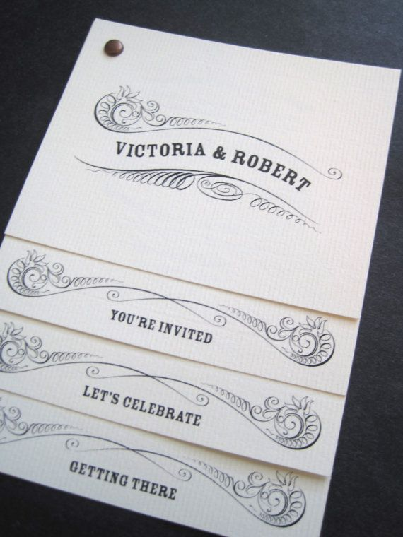 Staggered invitation set by The Inviting Pear