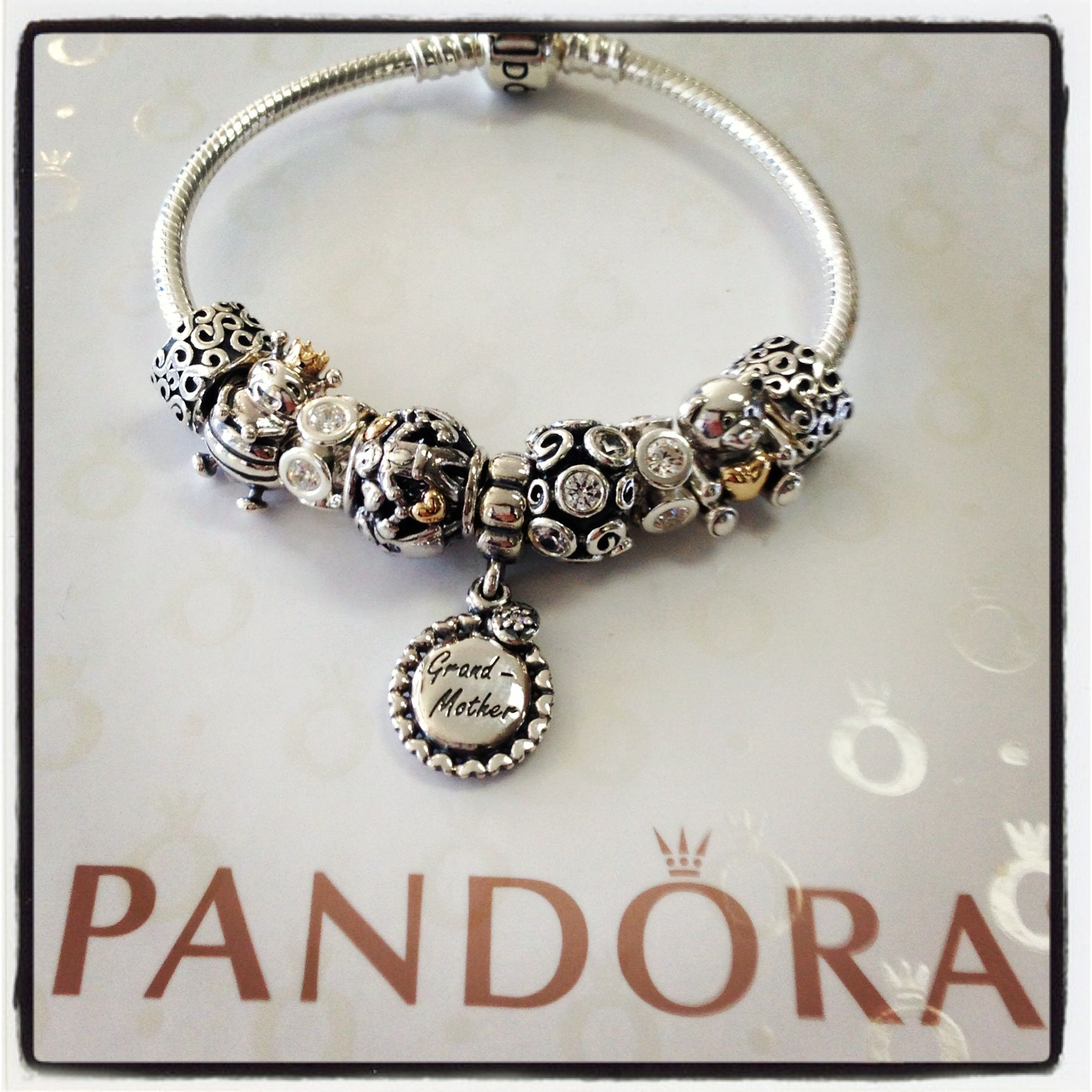 Ultimate Pandora Grandmother Bracelet Mypandora Pandorajewelry Charms Mothersday Jewelry