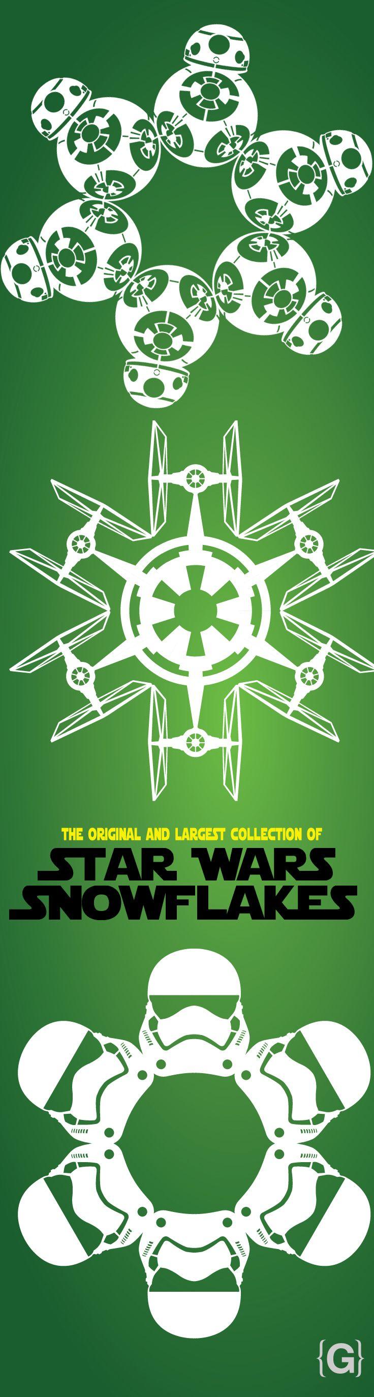 2015 Star Wars Snowflake Templates | Christmas | Pinterest | Guerra ...