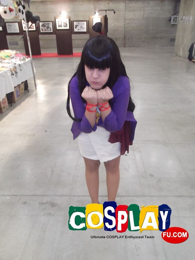 Maya Fey Cosplay from Ace Attorney in Spain Expocomic 2014 ES