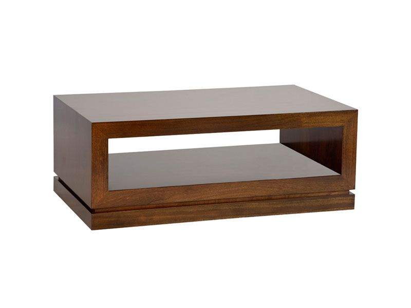 The Cedar Park coffee table has very clean lines and modern styling. The shelf is both a visually stimulating design element and convenient display or storage space.Made in mahogany and available in a choice of contemporary colour finish: Modern Dark, Modern Light