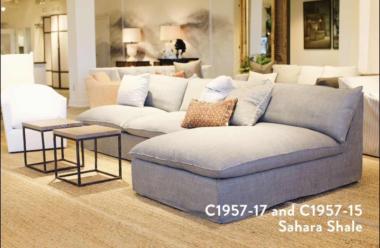Lee Industries New C1957 Slipcovered Sectional Series