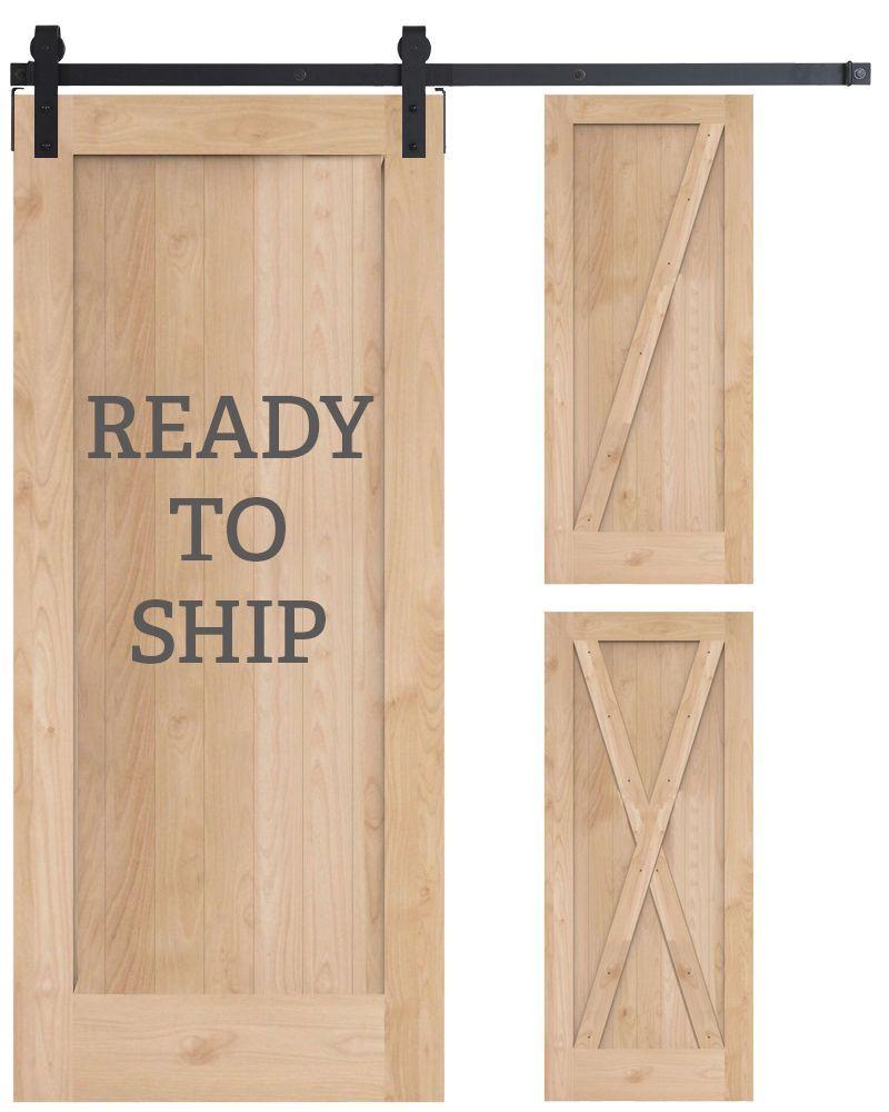 Rustica Hardware Ready To Ship 3 In 1 Barn Door Kit In 2020 Wood Barn Door Door Kits Doors