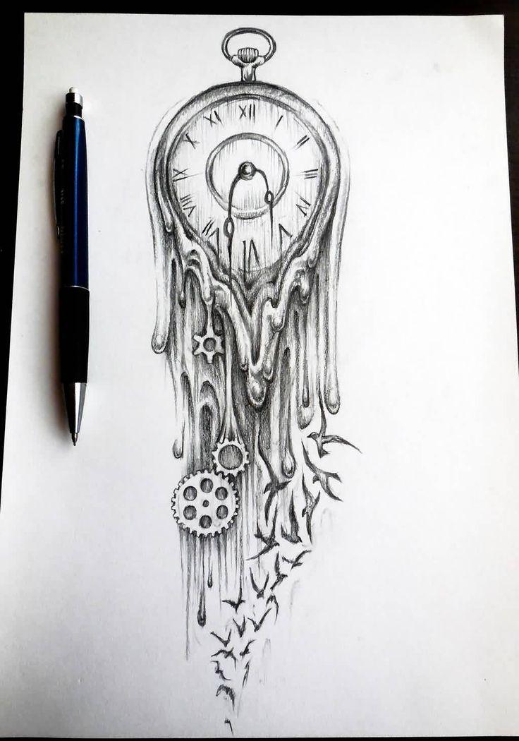 Time Tattoo Ideas Time Tattoos Clock Tattoo Design Leg Tattoos