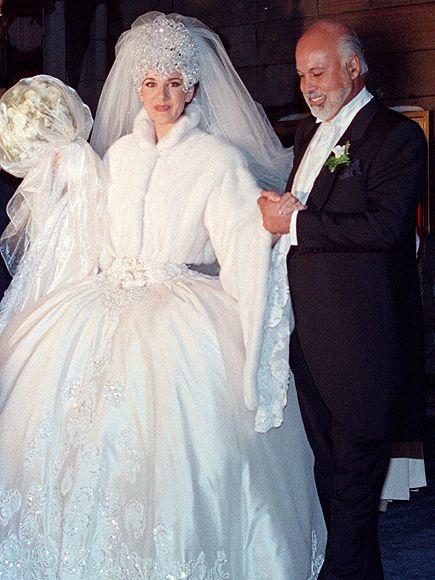 Celine Dion And Rene Angelil Marriage Photos Celine Dion Wedding Famous Wedding Dresses Celebrity Wedding Dresses