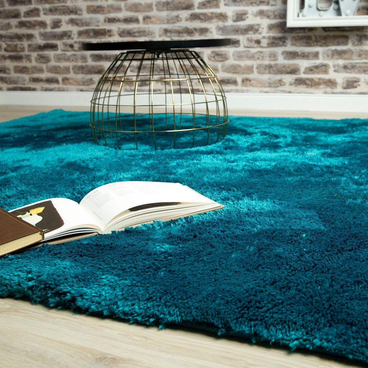 Hochflor Teppich My Curacao 490 Obsession Rechteckig Höhe 35 Mm Sehr Weicher Flor Wohnzimmer Online Kaufen Otto Rug Design Petrol Rugs