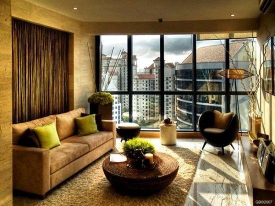 Calming Living Room Design Inpiratio