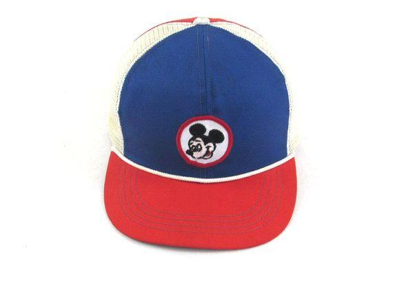 Vintage Mickey Mouse Snapback Hat Walt Disney by SouthParkVintage ... ac6dc13b4e2e