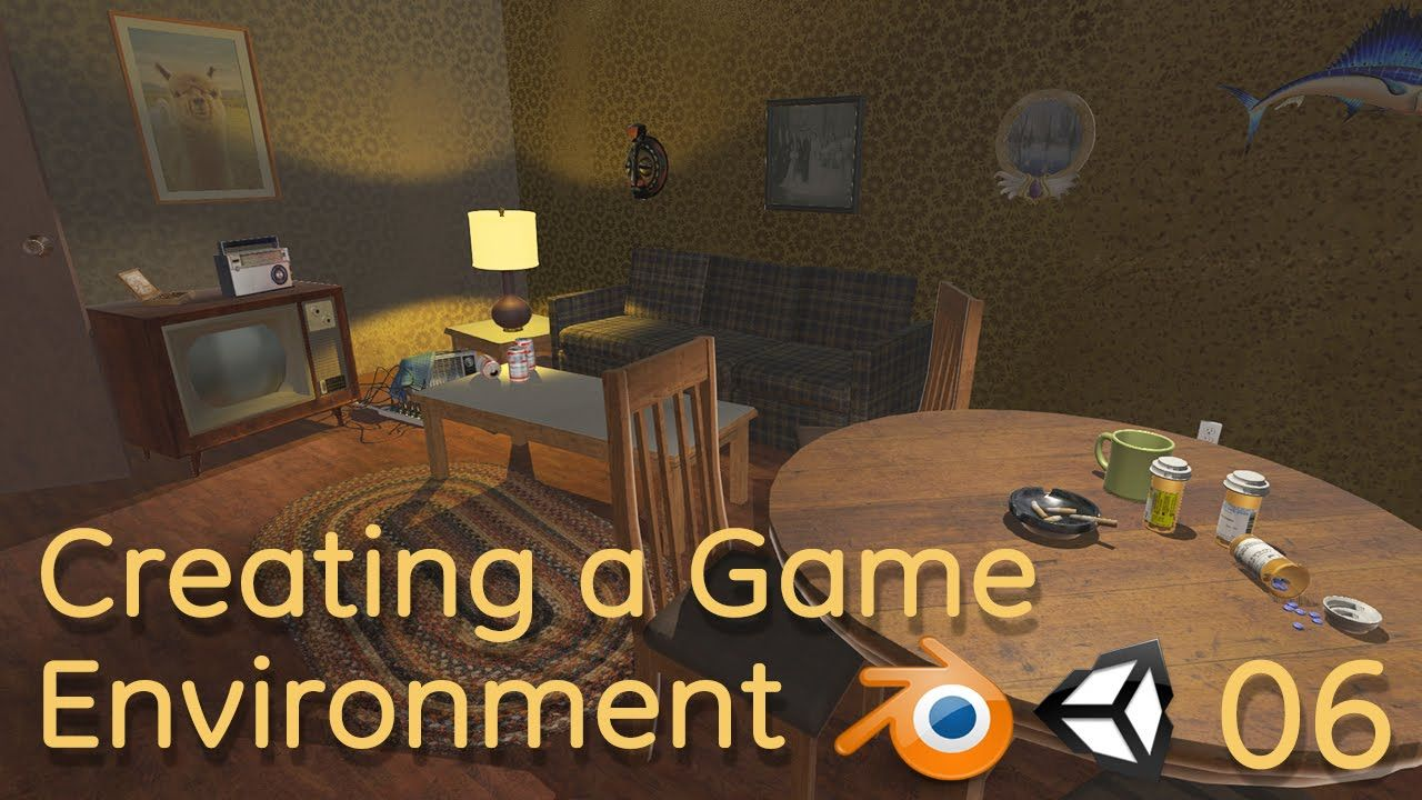 Creating a Game Environment in Blender and Unity 06