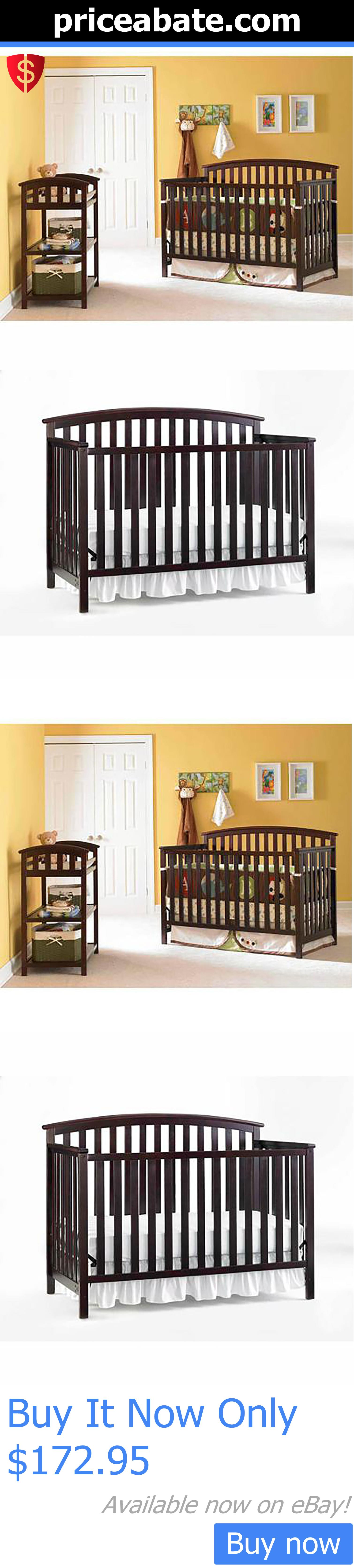 Graco crib for sale manila - Baby Nursery 4 In 1 Baby Toddler Convertible Bed Nursery Fixed Side Crib Graco Espresso Buy It Now Only 172 95 Priceabatebabynursery Or Pricea