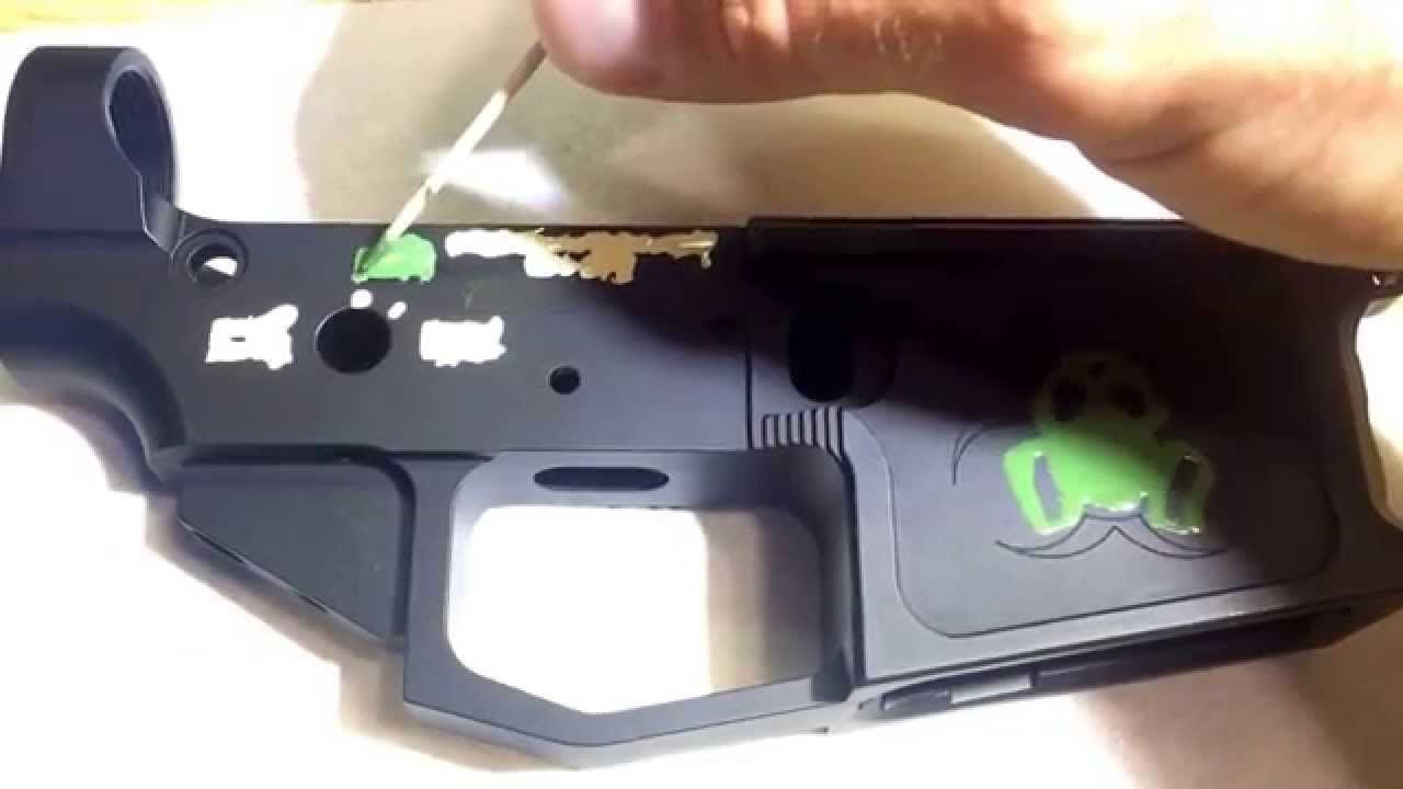 How I color filled my AR15 lower receiver with testors enamel paint