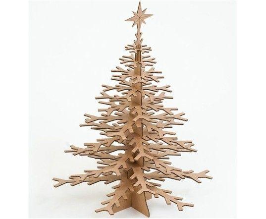 21 Beautiful Faux Diy Christmas Trees To Brighten The Season Cardboard Christmas Tree Modern Christmas Tree Christmas Tree Decorations
