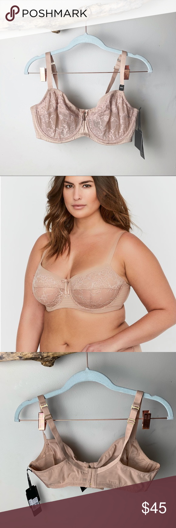 d5472c9562 NWT ASHLEY GRAHAM Fatal Attraction Unlined Bra Unlined non-padded underwire  seamed bra