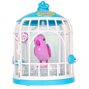 Little Live Pets Tweet Talking Birds with Cage from Moose
