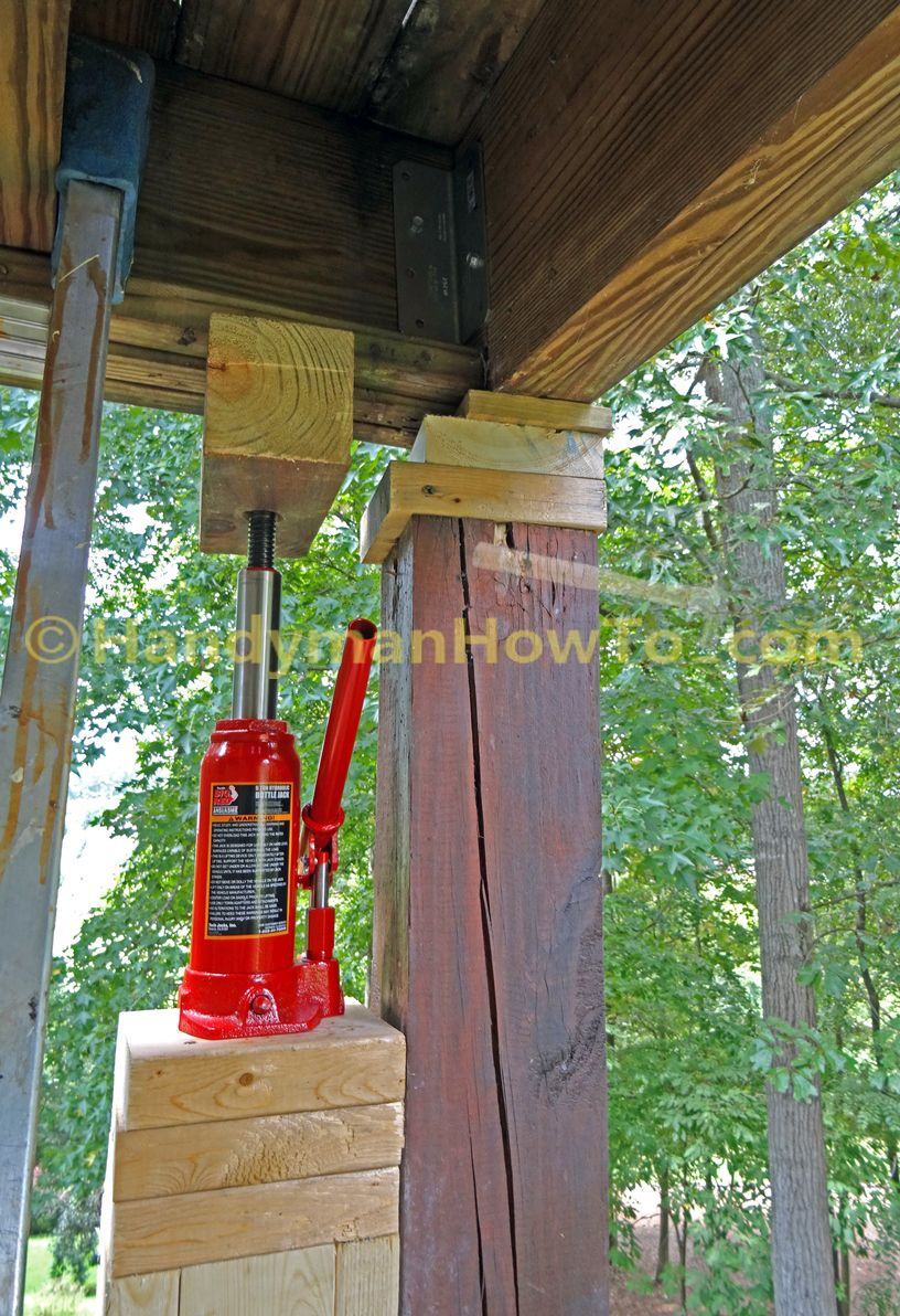 How To Replace A 6x6 Wood Deck Post Deck Posts Wood