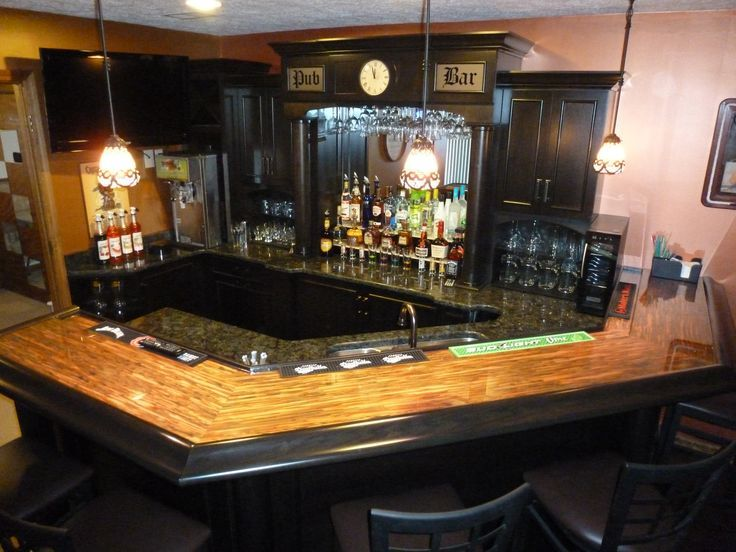 Copper top bar Uploaded to Pinterest Ideas for the House