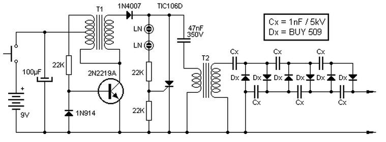 9v To 135kv Inverter Circuit Hubby Project Pinterest Circuits