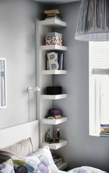 8 Corner Storage Solutions To Rule Your Small Space Habitaciones Pequenas Dormitorios Decoracion De Unas